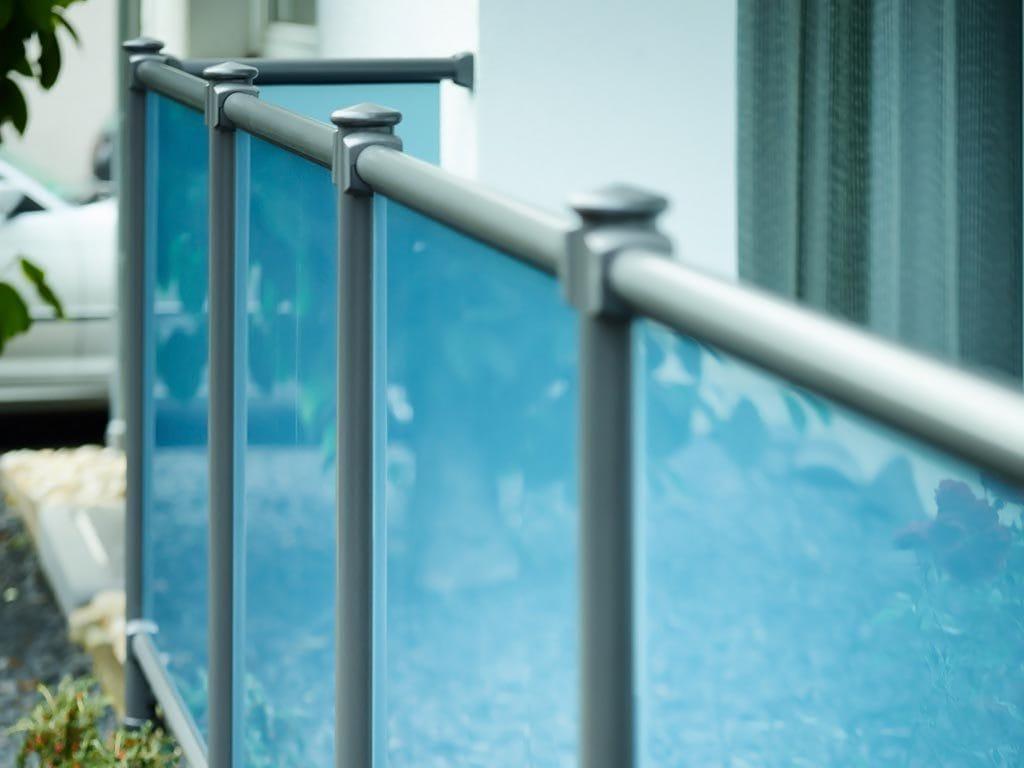 Balkongeländer aus Sicherheitsglas