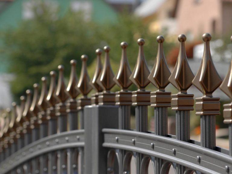 Zaun aus Aluminium